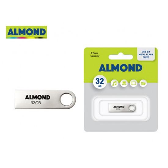 USB 2.0 ALMOND 32GB METAL