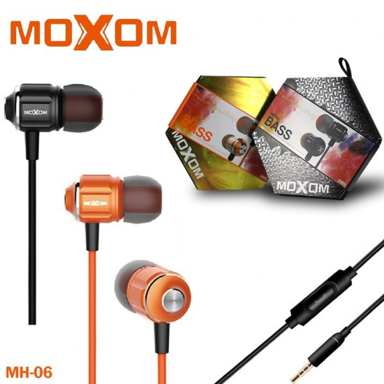 Moxom MH-06 High Fidelity Metal Bass In Ear Earphone With 3.5mm Gold Plated Jack