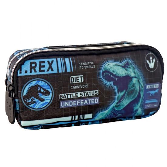 Κασετίνα Must με 2 φερμουάρ Jurassic World