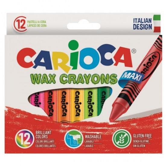 Κηρομπογιές Carioca Wax maxi 12 χρωμάτων