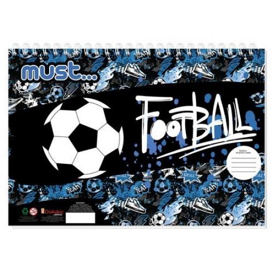 Μπλοκ Ζωγραφικής FootBall 40 φ. 23X33