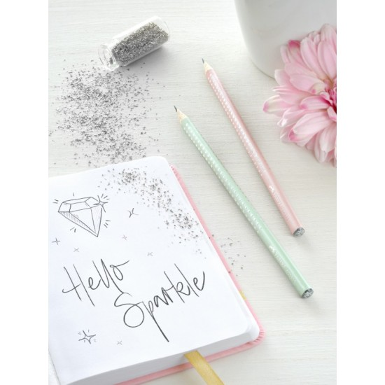 FABER-CASTELL μολύβι SPARKLE Ροζ Παστέλ