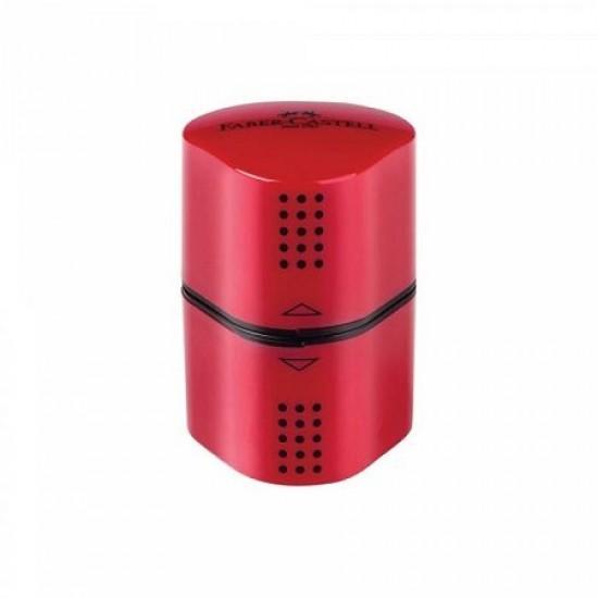 Ξύστρα Faber Castell Grip 2001 Τριπλή κόκκινη