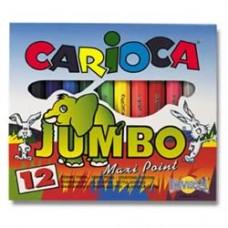 Μαρκαδόροι ζωγραφικής Jumbo 12χρώματα - Carioca